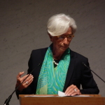 IWF-Chefin Christine Lagarde in Tokyo