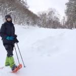 Beim Schneeschuhlaufen in Shiga Kogen, in einem von Japans größten Skigebieten.