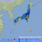 In ganz Japan spürbar: das Beben bei den Ogasawara-Inseln (Illustration des japanischen Wetteramtes, JMA)