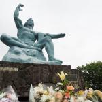 Die Friedensstatue in Nagasaki: eindringliches Mahnmal in Erinnerung an die Opfer der Atombombe. (c) Sonja Blaschke