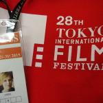 Tasche und Pressekarte vom Tokyo International Film Festival 2015. Foto: S. Blaschke