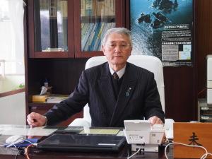 """""""Es ist doch eine Frage der japanischen Souveränität"""", findet der Bürgermeister von Okinoshima-Stadt, Kazuhisa Matsuda. """"Takeshima ist japanisches Territorium"""", beharrt er. (c) Sonja Blaschke"""