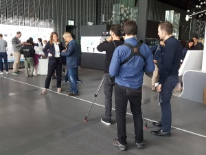 Dreharbeiten im Miraikan-Museum in Tokyo. (c) Sonja Blaschke