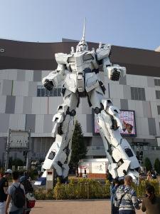 Eine riesige Gundam-Statue auf der künstlichen Insel Odaiba in Tokyo. (c) Sonja Blaschke